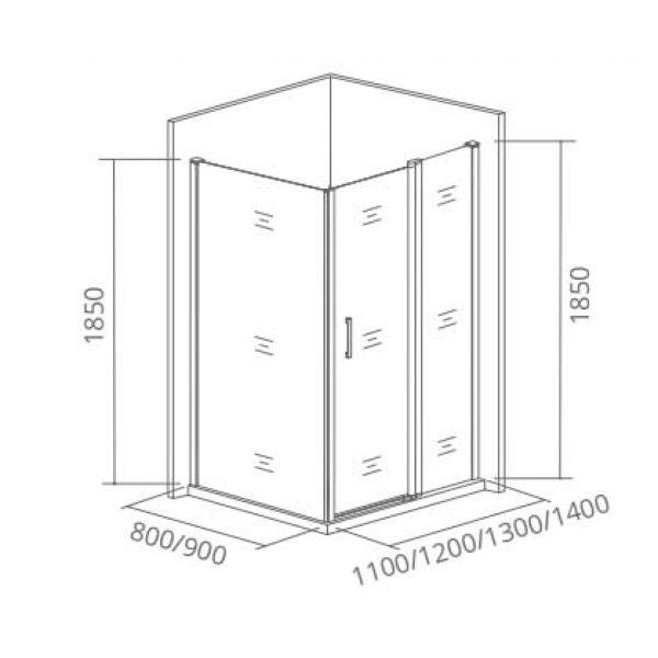 Душевой уголок Good Door Infinity WTW 110х90