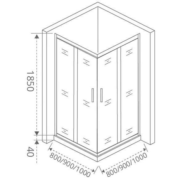Душевой уголок Good Door Latte CR-90 90х90