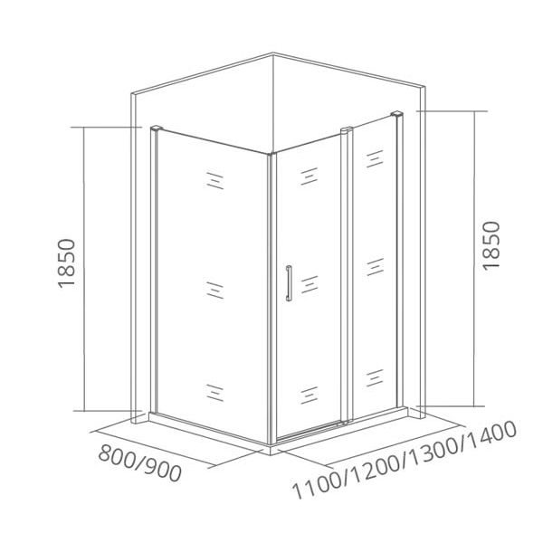 Душевой уголок Good Door Latte WTW 120х80