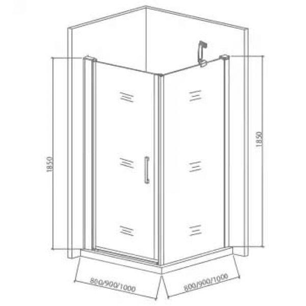 Душевой уголок Good Door Pandora CR-90 90х90