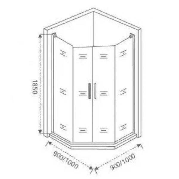 Душевой уголок Good Door Pandora PNT-TD 90х90