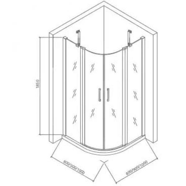 Душевой уголок Good Door Pandora R 90х90