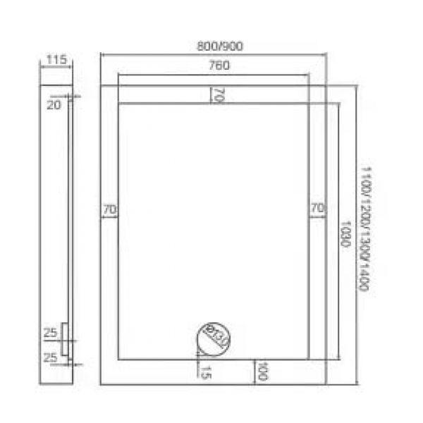 Душевой уголок Good Door Pandora WTW 130х80