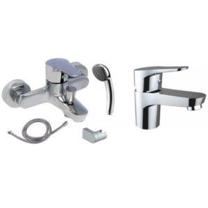Готовое решение №1 - смеситель для умывальника + смеситель для ванны
