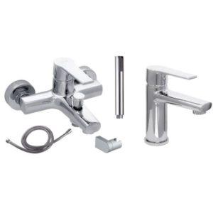 Готовое решение №4 - смеситель для умывальника + смеситель для ванны и душа
