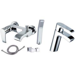 Готовое решение №5 - смеситель для умывальника + смеситель для ванны и душа