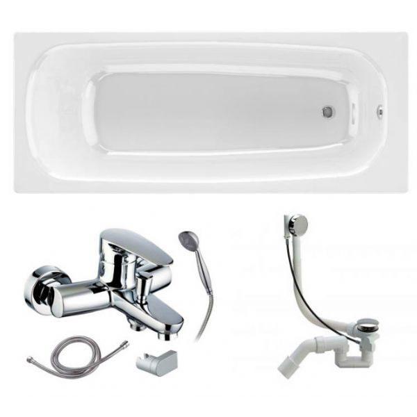 Готовое решение №75 (чугунная ванна BLB+смеситель для ванны+сифон-полуавтомат)