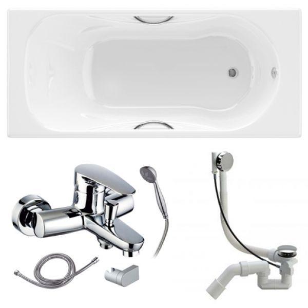 Готовое решение №88 (чугунная ванна BLB+смеситель для ванны+сифон-полуавтомат)