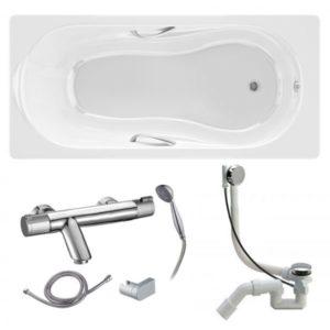 Готовое решение №93 (чугунная ванна BLB+смеситель для ванны и душа+сифон-полуавтомат)