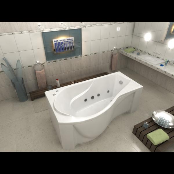 Акриловая ванна BAS Капри 170х95 (сифон автомат)