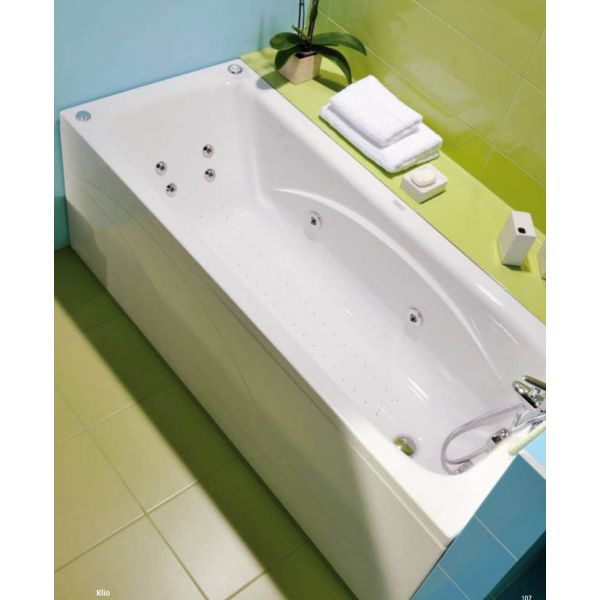 Акриловая ванна Poolspa Klio 140x70 (сифон автомат)