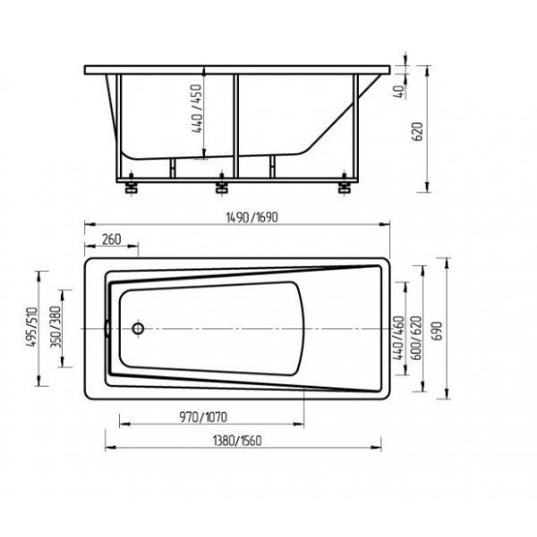 Акриловая ванна Aquatek Либра 170x70 (сифон)