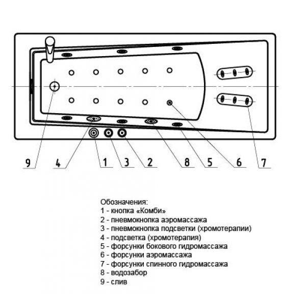 Акриловая ванна Aquatek Либра 150x70 (сифон)