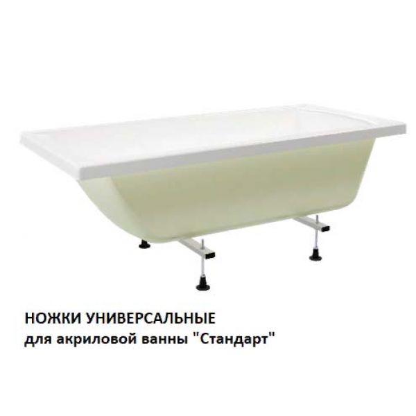 Акриловая ванна Метакам Стандарт 170х70 (сифон)