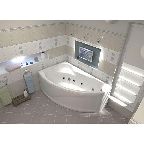 Гидромассажная ванна BAS Николь 170х104 (сифон автомат)
