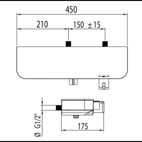 Смеситель для душа Clever Nine elegance 60154 термостатический