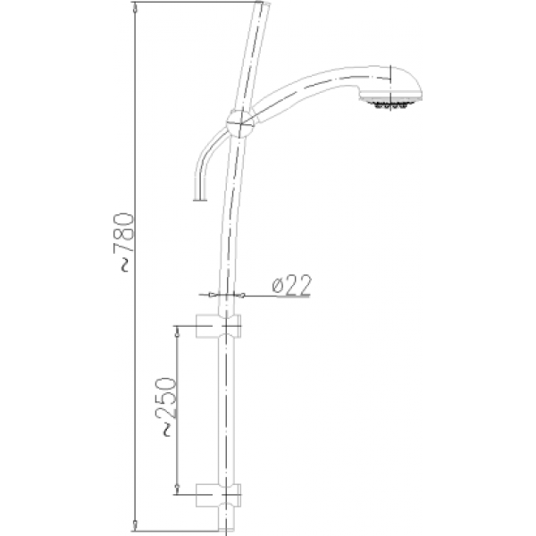 Душевой гарнитур Armatura Pallas 841-330-00