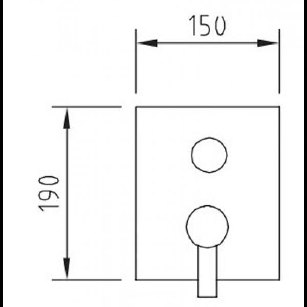 Смеситель для ванны Clever Paula 98747 термостатический