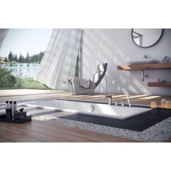 Акриловая ванна Excellent Pryzmat Slim 170x75 (сифон автомат)
