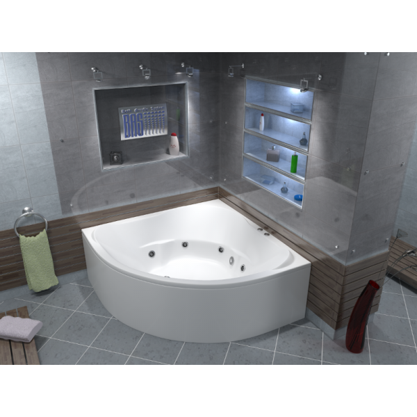 Гидромассажная ванна BAS Ривьера 160х160 (сифон автомат)