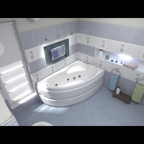Акриловая ванна BAS Сагра 160х100 (сифон автомат)
