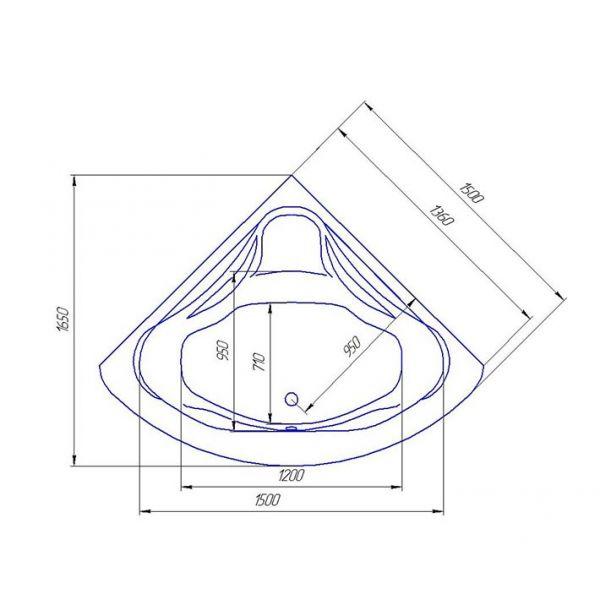 Акриловая ванна ARTEL PLAST Станислава 170x170 (сифон автомат)
