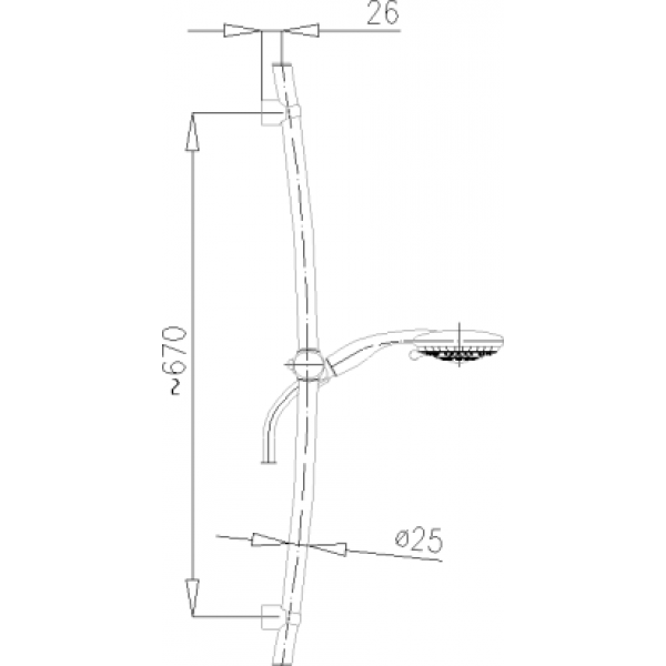 Душевой гарнитур Armatura Vesta 841-160-00