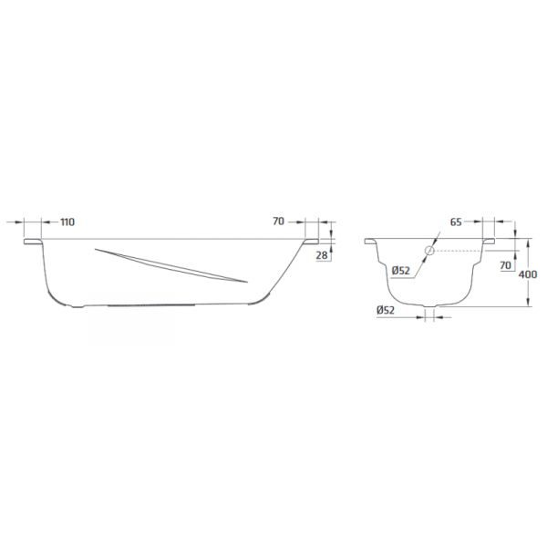 Стальная ванна BLB Universal Anatomica 170x75 (сифон автомат)