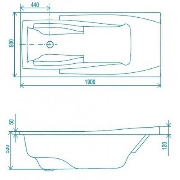 Акриловая ванна ARTEL PLAST Желана 200x90 (сифон автомат)