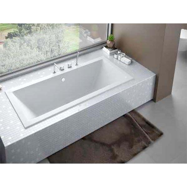 Акриловая ванна Besco Quadro 165х75 (сифон автомат)