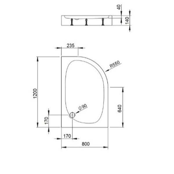 Душевой уголок Bravat DROP NDB2142 120x80