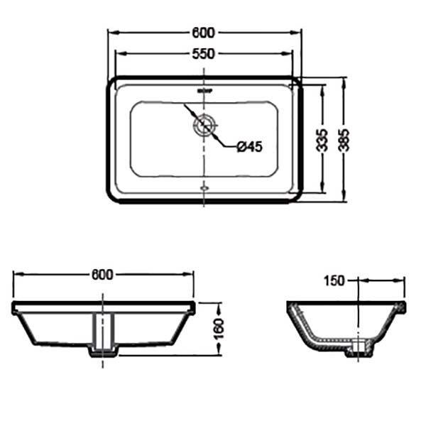 Умывальник Bravat C22171W-ENG