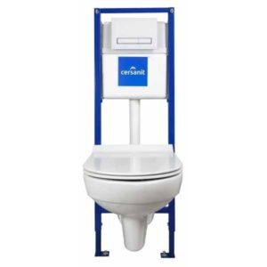 Комплект инсталляции Cersanit LINK PRO c унитазом City New Clean On и сиденьем slim DP lift