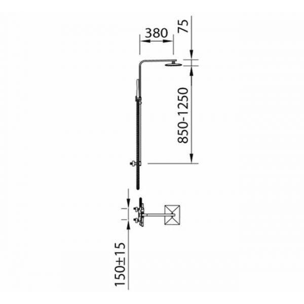 Душевая система с термостатом Nine Xtreme 60135