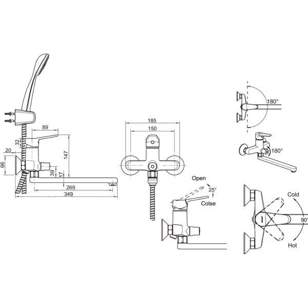 Промонабор Bravat 2 в 1 Eco-D 415C