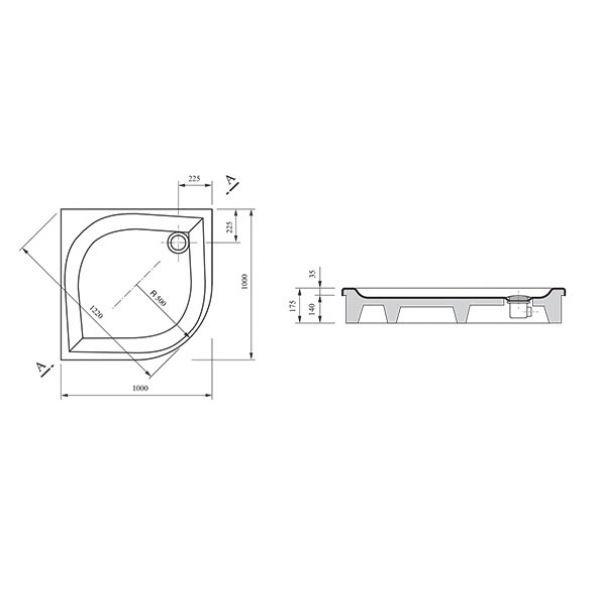 Душевой поддон Ravak Elipso PAN 100x100