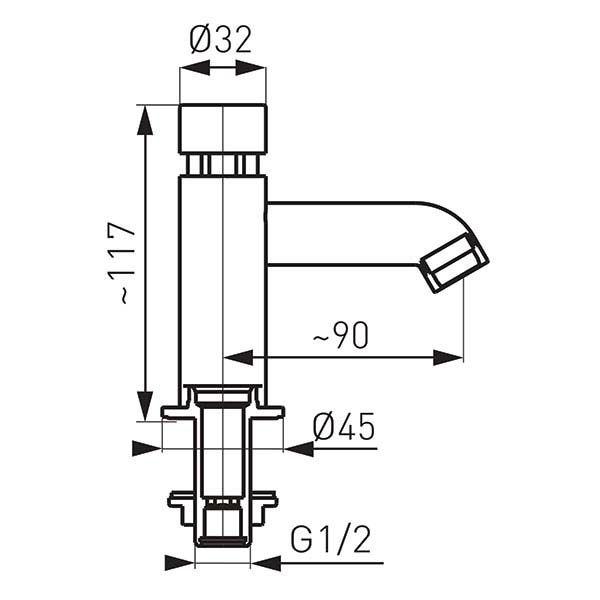 Смеситель для умывальника Ferro Press Z201
