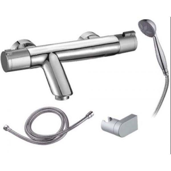 Готовое решение №51 (стальная ванна BLB+опора+смеситель термостатический Clever+сифон-полуавтомат)