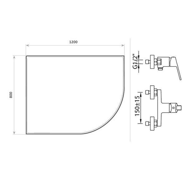Готовое решение №32 (душевой уголок Niagara NG-412022-14 + смеситель для душа Clever S12 XTREME)