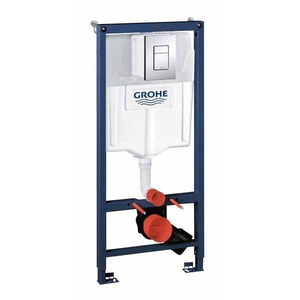 Система инсталляции Grohe Rapid SL 38772001 + подвесной унитаз Lavinia Boho Bell Pro Rimless 3301002R