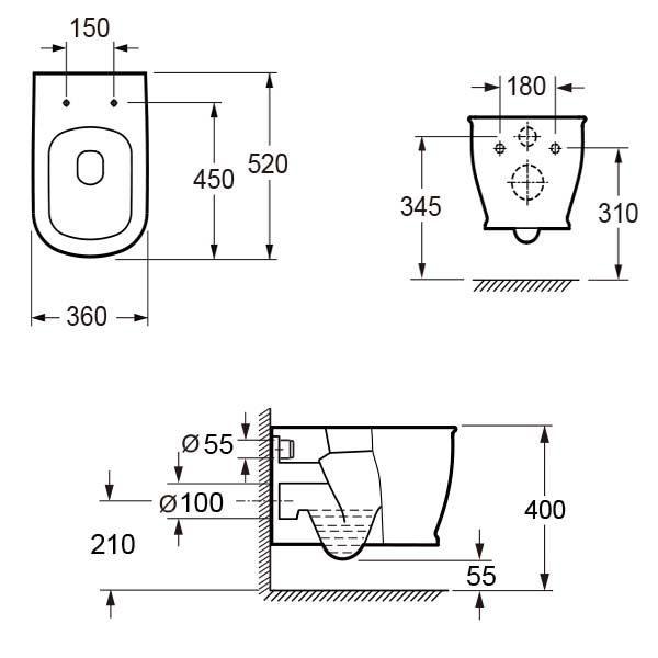 Система инсталляции Grohe Rapid SL 38750001 + подвесной унитаз Lavinia Boho Bell Pro Rimless 3301002R