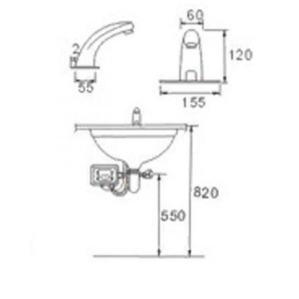 Смеситель для умывальника Ledeme L1055-13 сенсорный