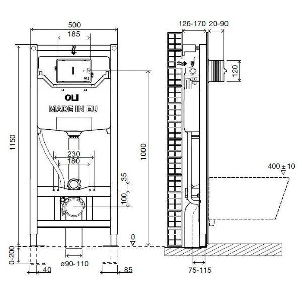 Система инсталляции OLI120 Plus механическая 099949