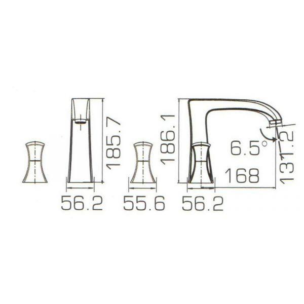 Смеситель на борт ванны на 3 отверстия Bravat WHIRPOOL F578112C-1
