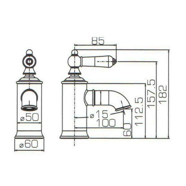 Смеситель для умывальника Bravat ART-RIVER F175109C