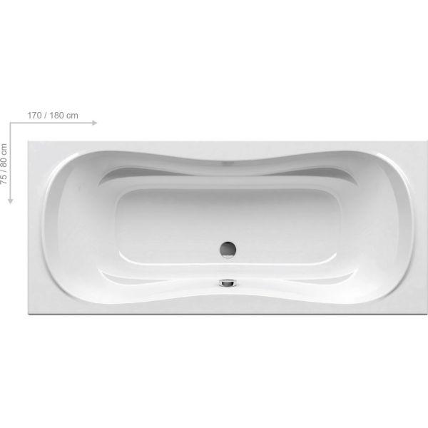 Акриловая ванна Ravak Campanula II 170x75 (сифон автомат)