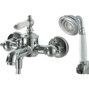 Смеситель для ванны с коротким изливом Bravat ART-RIVER F675109C-B